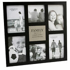 Friends or Family Multi Black Photo Frame with verse Holds 6 Photos