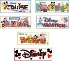 U CHOOSE Jolee's Disney Title Stickers MICKEY DINING MEMORIES VACATION FIREWORKS