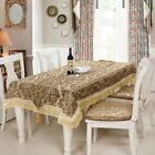 European Tablecloth Embroidered Kitchen Home Decor Pastoral Floral Table Cloth U