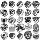Fashion Stainless Steel Skull Punk Ring Gothic Rings Skull Cool Men's Jewelry