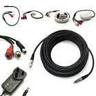 HIGH GAIN CCTV MICROPHONE FOR SECURITY CAMERA DVR SOUND AUDIO RECORDING + CABLE