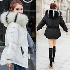 2017 Fashion Winter Women Down Cotton Parka Short Fur Collar Hooded Coat Jacket