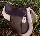 Synthetic leather look GP saddle with D-Flex*flexi tree at NEW lower price-BROWN