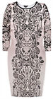 Ladies Paisley Bodycon Dress New Womens Plus Size Curve Midi Dresses UK 16 UK 18