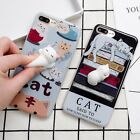 New 3D Soft Lazy Lovely Cat Silicone Phone Case Cover For iPhone Reduce Stress