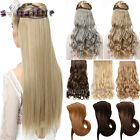 Real Thick Full Head Clip In Hair Extensions Full Colors Natural As Human hn25
