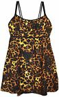 New NWSC Women's Plus Size Scoop Neck Swimdress Swimsuit 18 20 22 24 Jungle