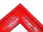 """1.5"""" Aged Old World  Apple Red Antique Rustic Distressed Picture Frame-Standard"""