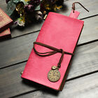 Retro Classic Vintage Leather Bound Blank Pages Diary Journal Clocks Notebook UK
