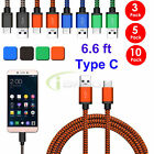 LOT 6.6 FT USB TypeC Data Sync Charger Charging Cable Cord for Samsung S8/Plus