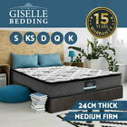 QUEEN KING SINGLE DOUBLE Mattress Bed Size Pillow Top 5 Zone Spring Foam 24CM