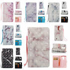 For LG K7 / LG Tribute 5 Marble Pattern Glossy Synthetic Leather Card Case Cover