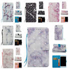 For Huawei P8 Lite/Mini Marble Pattern Glossy Synthetic Leather Card Case Cover