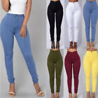 Woman Pencil Stretch Casual Look Denim Skinny Jeans Pants High Waist Trousers