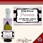 L34 Personalised Individual Mini Custom Prosecco Bottle Hen Bridal Party Label