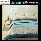 3 Pce Serena Quilted Quilt Doona Duvet Cover Set by Phase 2 - DOUBLE QUEEN KING