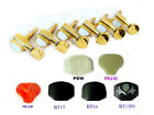 Electric Guitar Golden Plated Tuners 6 in a Line 233G Plastic Ebony Inlay Button