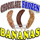Chocolate Frozen Banana DECAL (Choose Your Size) Food Truck Sticker Concession