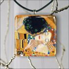 THE KISS  CLOSE UP BY KLIMT PENDANT NECKLACE 3 SIZES CHOICE -gbc5Z