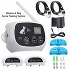 Wireless Rechargeable 1-2-3 Dog Fence No-Wire Pet Containment System Waterproof фото