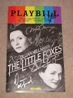 LITTLE FOXES SIGNED BROADWAY CAST JUNE PRIDE PLAYBILL LAURA LINNEY CYNTHIA NIXON