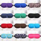 3D Eye Mask Shade Cover Sleep Eyepatch Blindfold Shield Travel Aid 11Colors