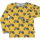 BNWT New Smafolk Ochre Tractor Long Sleeved T-shirt Boys Top Yellow