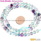 A Grade Natural Multicolor Bulk Stone Fluorite Gemstone Jewelry Making Beads 15""