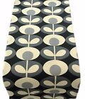 TABLE RUNNERS orla made in OVAL FLOWER cool grey lined- runner black kiely