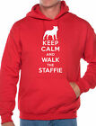 Keep Calm Walk The Staffie Dog Lovers Unisex Hoodie Size S-XXL