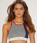 Tommy Hilfiger High Neck Cotton Lounge Bralette - Women's #R70T024