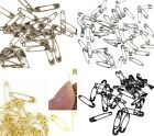 30 x Metal Safety Pins Small 20mm 2cm Black or Gold or Silver