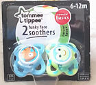 Tommee Tipppee Boys Funky Face Orthodontic Soothers 6 - 12Mths Bpa Free New