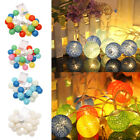 2.3m 20 LED Cotton Ball Fairy String Lights Waterproof Outdoor Christmas Wedding