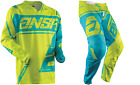 NEW 2018 ANSWER RACING SYNCRON AIR ACID CYAN YOUTH RACE GEAR COMBO JERSEY PANTS