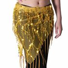 Belly Dance Costume Tribal Triangle Sequins Tassel Hip Scarf Skirt Belt Wrap US
