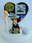 Wedding Cake Topper US Army Themed Military Troops Dog Tag Flag Ball Chain Funny