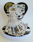 Wedding Cake Topper U.S. Army Themed Clear Bride Groom Dancing Military Troops