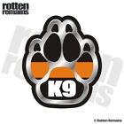 SAR K-9 Paw Decal Search Rescue Dog Thin Orange Line Vinyl Sticker M66