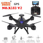 Global Drone X183 V2 Quadcopter WiFi FPV 1080P Cam GPS Altitude Hold Helicopter