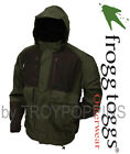 FROGG TOGGS RAIN GEAR MENS-FIREBELLY NT6201-109 GREEN/BLACK TOADZ JACKET FISHING
