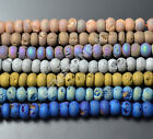 5x8mm Titanium Coated Natural Druzy Agate Gemstone Rondelle Loose Beads 7.5""