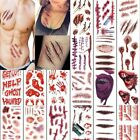 5sheet/Set Temporary Scar Blood Tattoos Fancy Dress Sticker Wound Scab Halloween