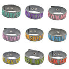 Kpop EXO Member Birthday Silicone Bracelet Wristband Sport Bangle Cuff Fan Gift