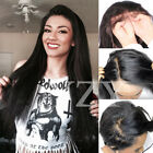 8A Full Lace Wig 100% Brazilian Human Hair Virgin Straight Body Wave Baby Hair #