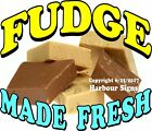 Fudge Made Fresh DECAL (Choose Your Size) Food Truck Sign Restaurant Concession