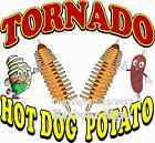 Tornado Hot Dog Potato DECAL (CHOOSE YOUR SIZE) Food Truck Restaurant Concession