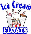 Ice Cream Floats DECAL (CHOOSE YOUR SIZE) Food Truck Sign Restaurant Concession