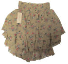 Polo Ralph Lauren Womens Denim & Supply Sheer Ruffled Tiered Brown Skirt New M