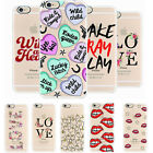 Creative Lip Pattern Letter Soft Rubber TPU Case Cover For Apple iPhone 6S Plus